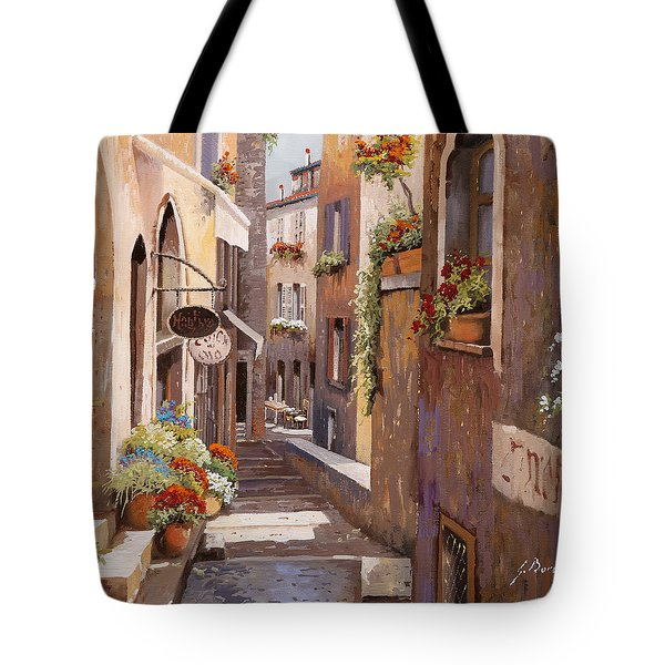Rue Du Bresc In St Paul De Vence Tote Bag