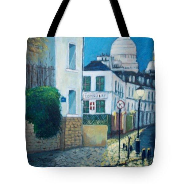 Rue Norvins, Paris Tote Bag