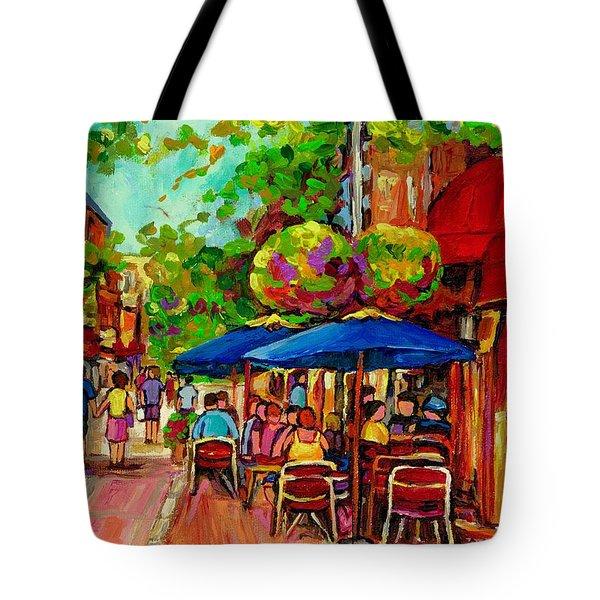 Rue Prince Arthur Montreal Tote Bag