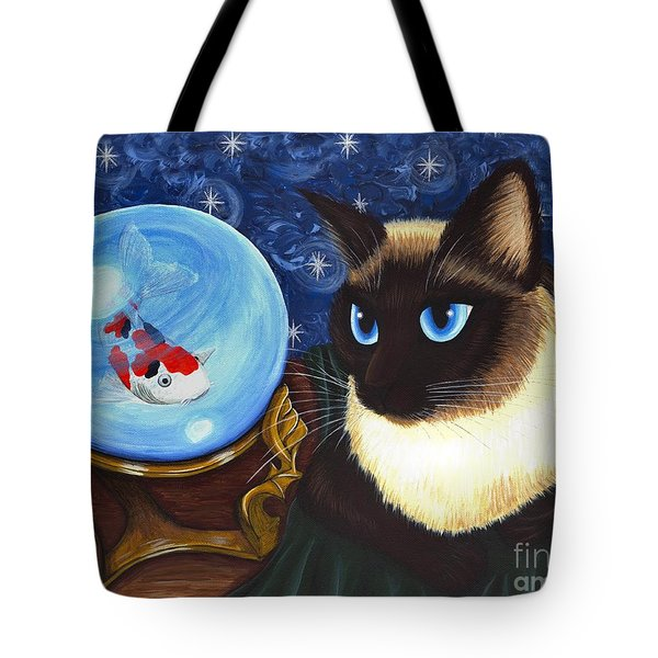 Rue Rue's Fortune - Siamese Cat Koi Tote Bag