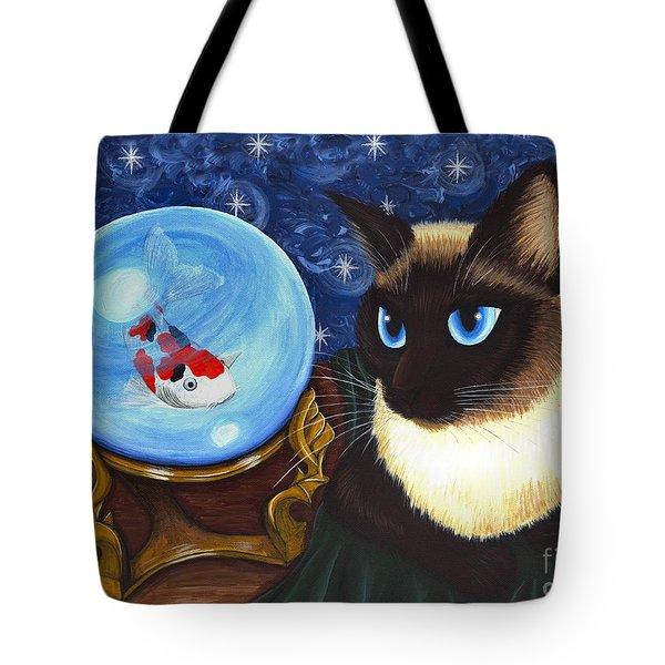Rue Rue's Fortune - Siamese Cat Koi Tote Bag