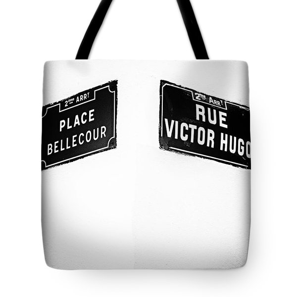 The Corner Of Place Bellecour And Rue Victor Hugo Tote Bag
