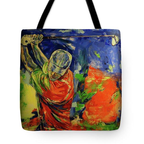 Rueckschwung   Backswing Tote Bag by Koro Arandia
