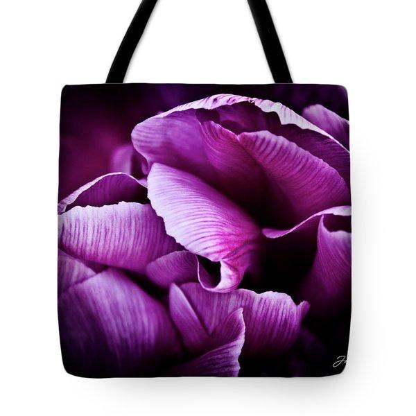 Ruffled Edge Tulips Tote Bag by Joann Copeland-Paul