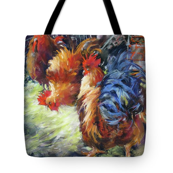 Ruffled Feathers Tote Bag by Rae Andrews