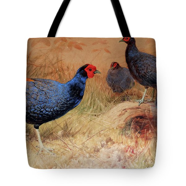 Rufous Tailed Crested Pheasant Tote Bag