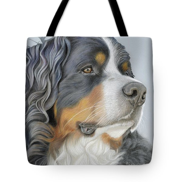 Tote Bag featuring the painting Regal And Relaxed by Donna Mulley