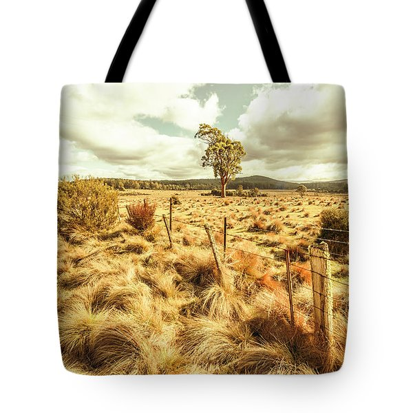 Rugged Australian Pastures Tote Bag