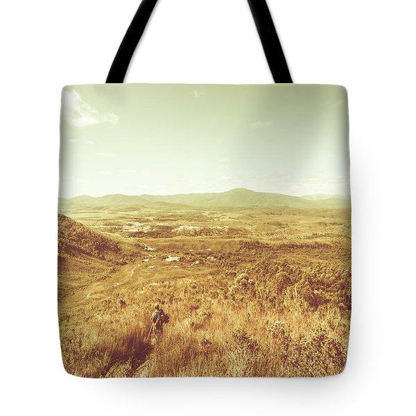 Rugged Bushland View Tote Bag