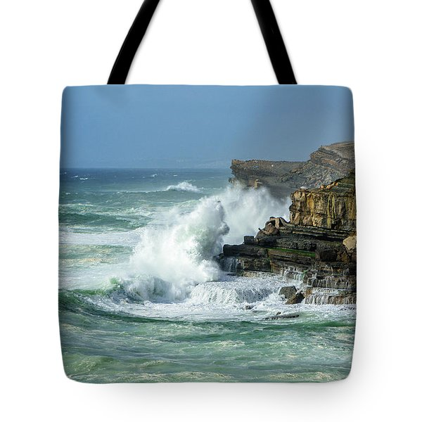 Rugged Coastal Seascape Tote Bag