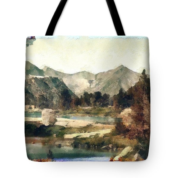 Tote Bag featuring the photograph Rugged Mountain High by Mario Carini