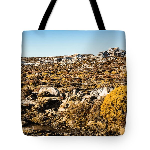 Rugged Mountain Town Tote Bag