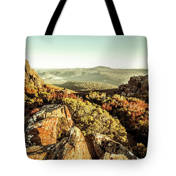 Rugged Mountaintops To Regional Valleys Tote Bag