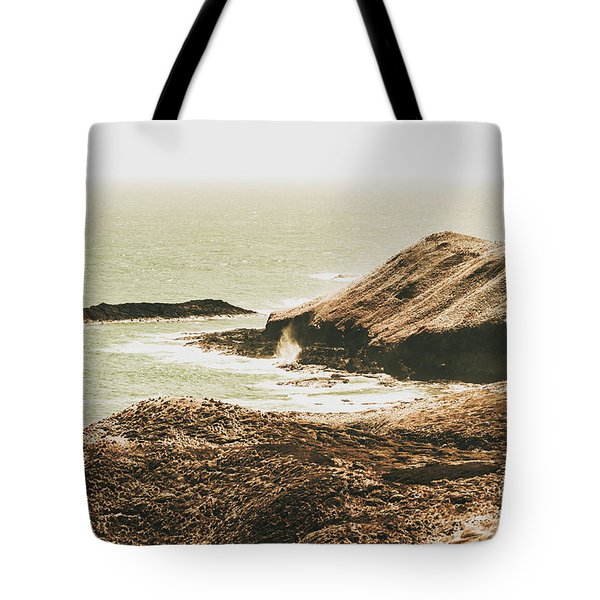 Rugged Rocky Cape Tote Bag
