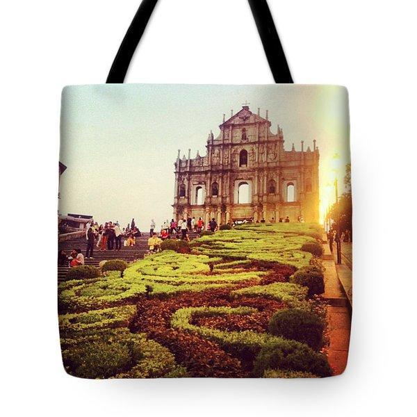 Ruinas De Sao Paulo Macau  Tote Bag