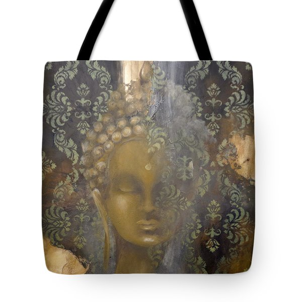 Tote Bag featuring the painting Ruined Palace Buddha by Dina Dargo