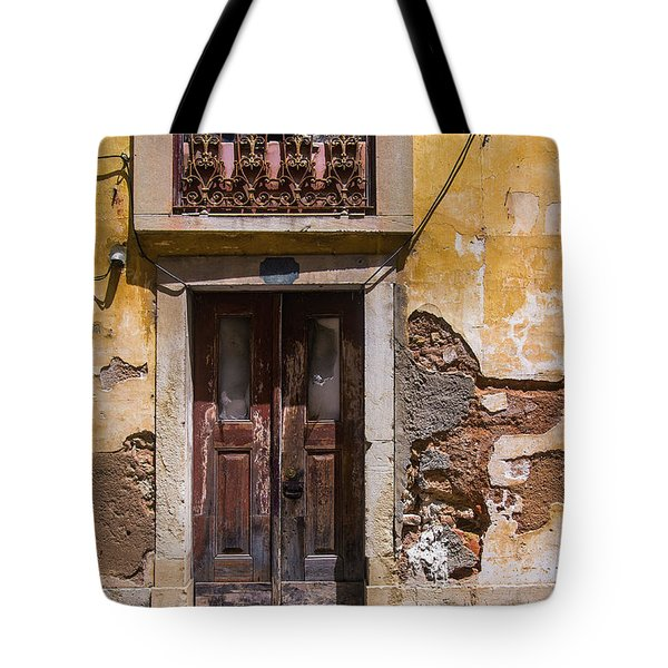 Ruined Yellow House Tote Bag