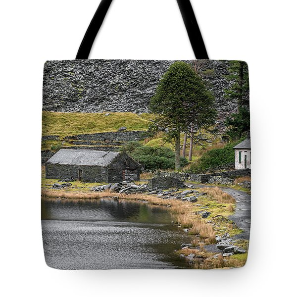 Tote Bag featuring the photograph Ruins At Cwmorthin by Adrian Evans