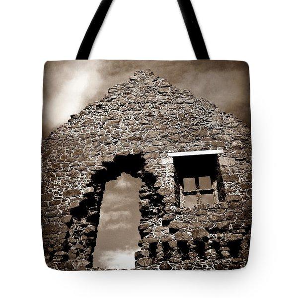 Ruins At Dunluce Tote Bag