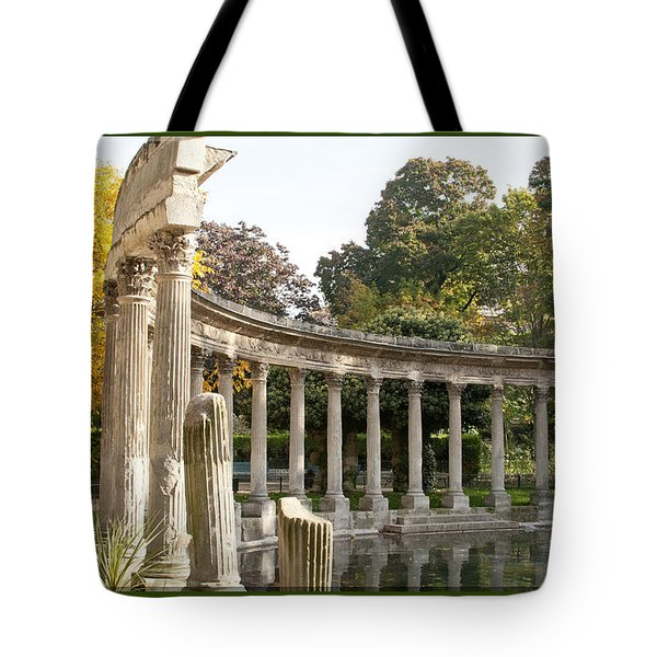 Tote Bag featuring the photograph Ruins In The Park by Victoria Harrington