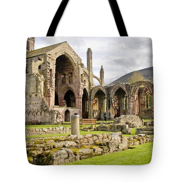 Ruins. Melrose Abbey. Tote Bag