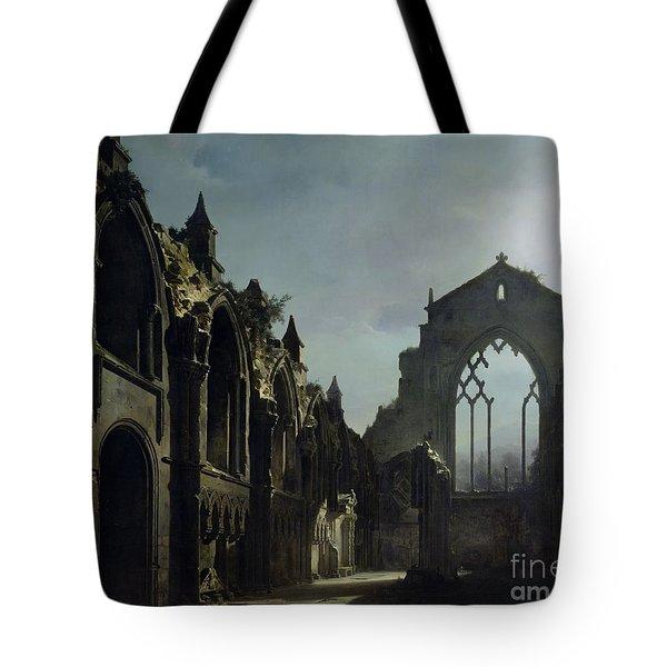 Ruins Of Holyrood Chapel Tote Bag