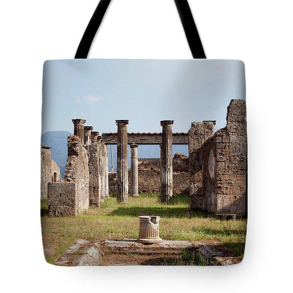 Ruins Of Pompeii Tote Bag