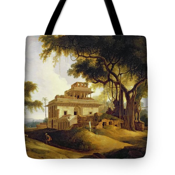 Ruins Of The Naurattan Tote Bag by Thomas Daniell