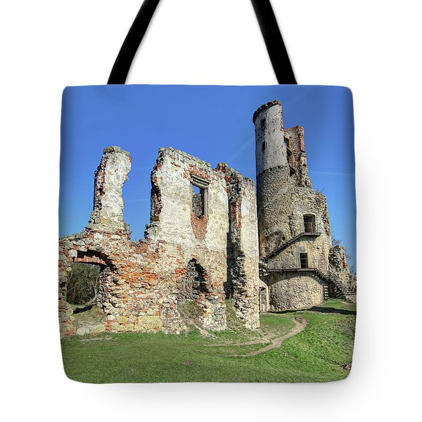 Tote Bag featuring the photograph Ruins Of Zviretice Castle by Michal Boubin
