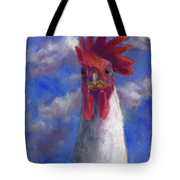 Tote Bag featuring the pastel Ruler Of The Roost by Billie Colson