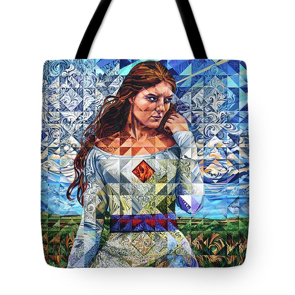 Tote Bag featuring the painting Rules Of Refraction by Greg Skrtic