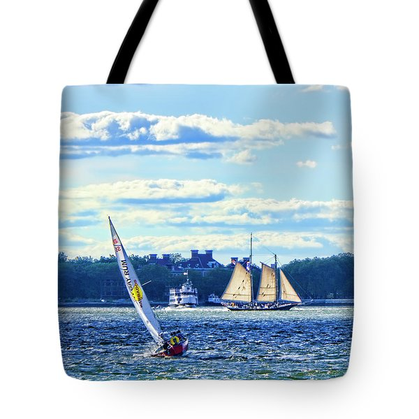 Tote Bag featuring the photograph Rum Runner by Steve Sahm