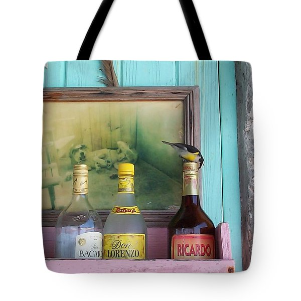 Tote Bag featuring the photograph Rum Shack Bananaquit by Mary-Lee Sanders