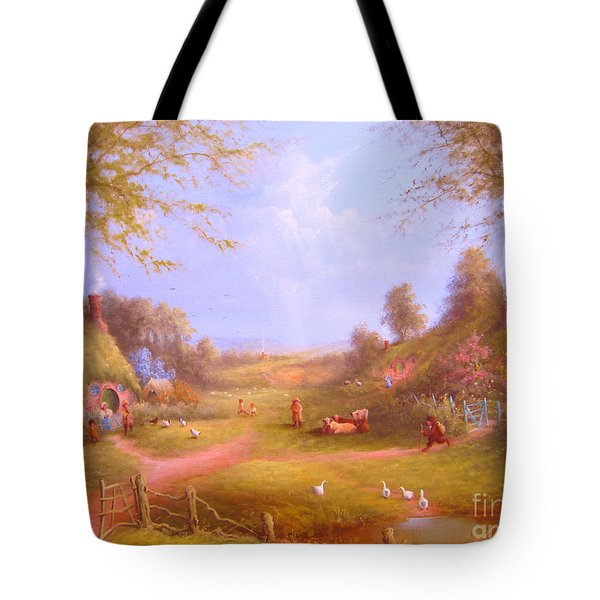 Run Bilbo Late For An Appointment Tote Bag by Joe  Gilronan
