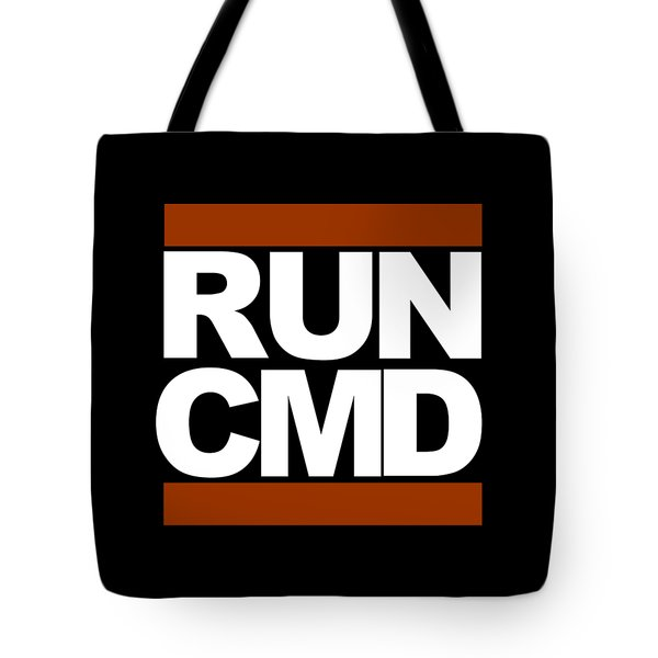 Run Cmd Tote Bag by Darryl Dalton