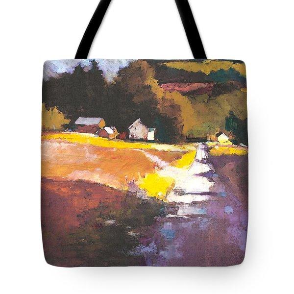 Run-off On The Road Tote Bag by Joseph Barani