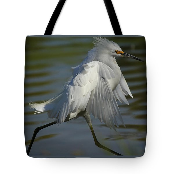 Run Snowy Run Tote Bag