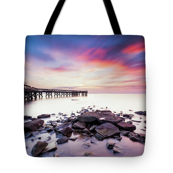 Tote Bag featuring the photograph Run To The Sun by Edward Kreis