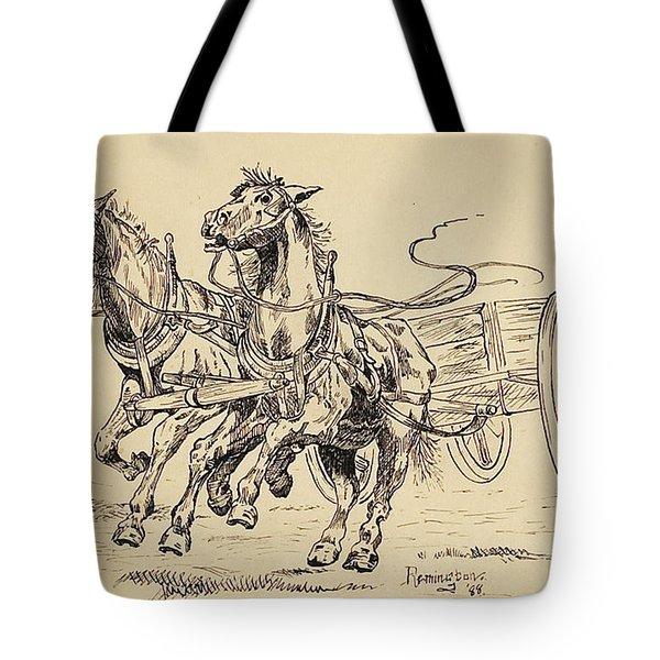 Runaway Horses Tote Bag