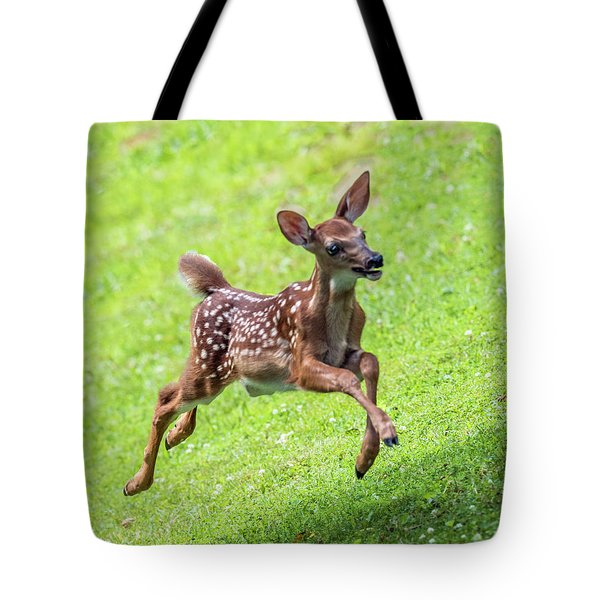 Running And Jumping Tote Bag