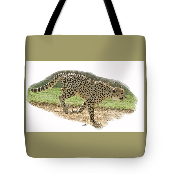 Running Cheetah Tote Bag
