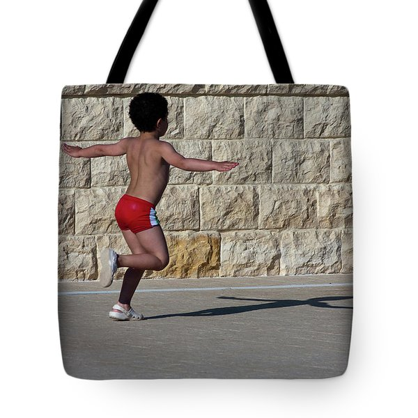 Running Child Tote Bag