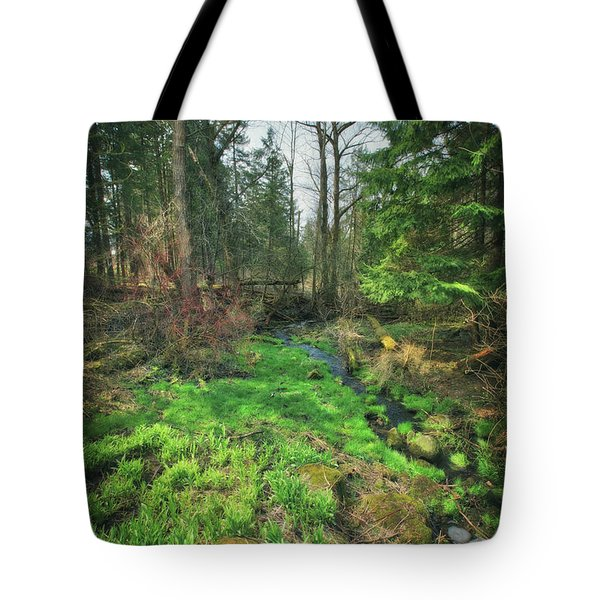 Running Creek In Woods - Spring At Retzer Nature Center Tote Bag by Jennifer Rondinelli Reilly - Fine Art Photography