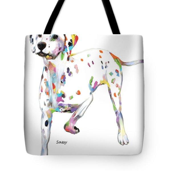 Running Dalmatian Tote Bag