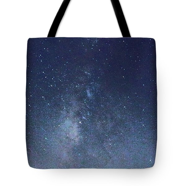 Running Dog Tree And Galaxy Tote Bag