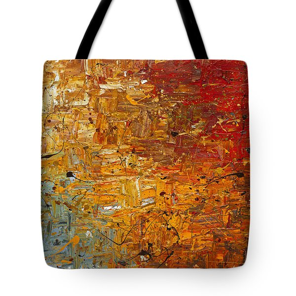 Tote Bag featuring the painting Running Free - Abstract Art by Carmen Guedez