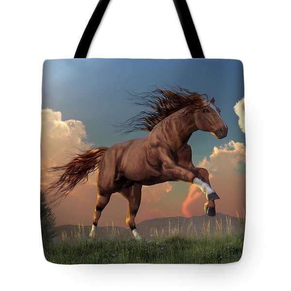 Running Free Tote Bag by Daniel Eskridge