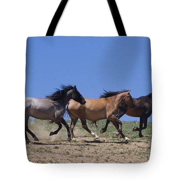 Running Free- Wild Horses Tote Bag