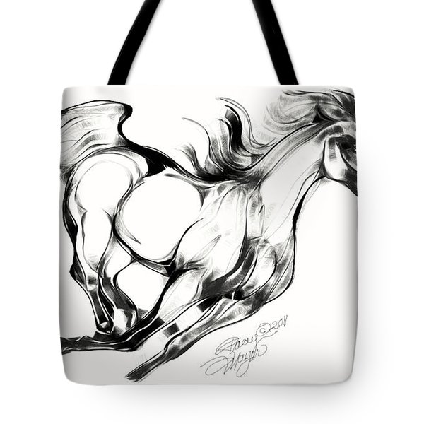 Night Running Horse Tote Bag
