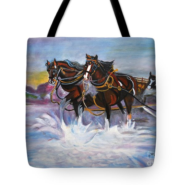 Running Horses- Beach Gallop Tote Bag